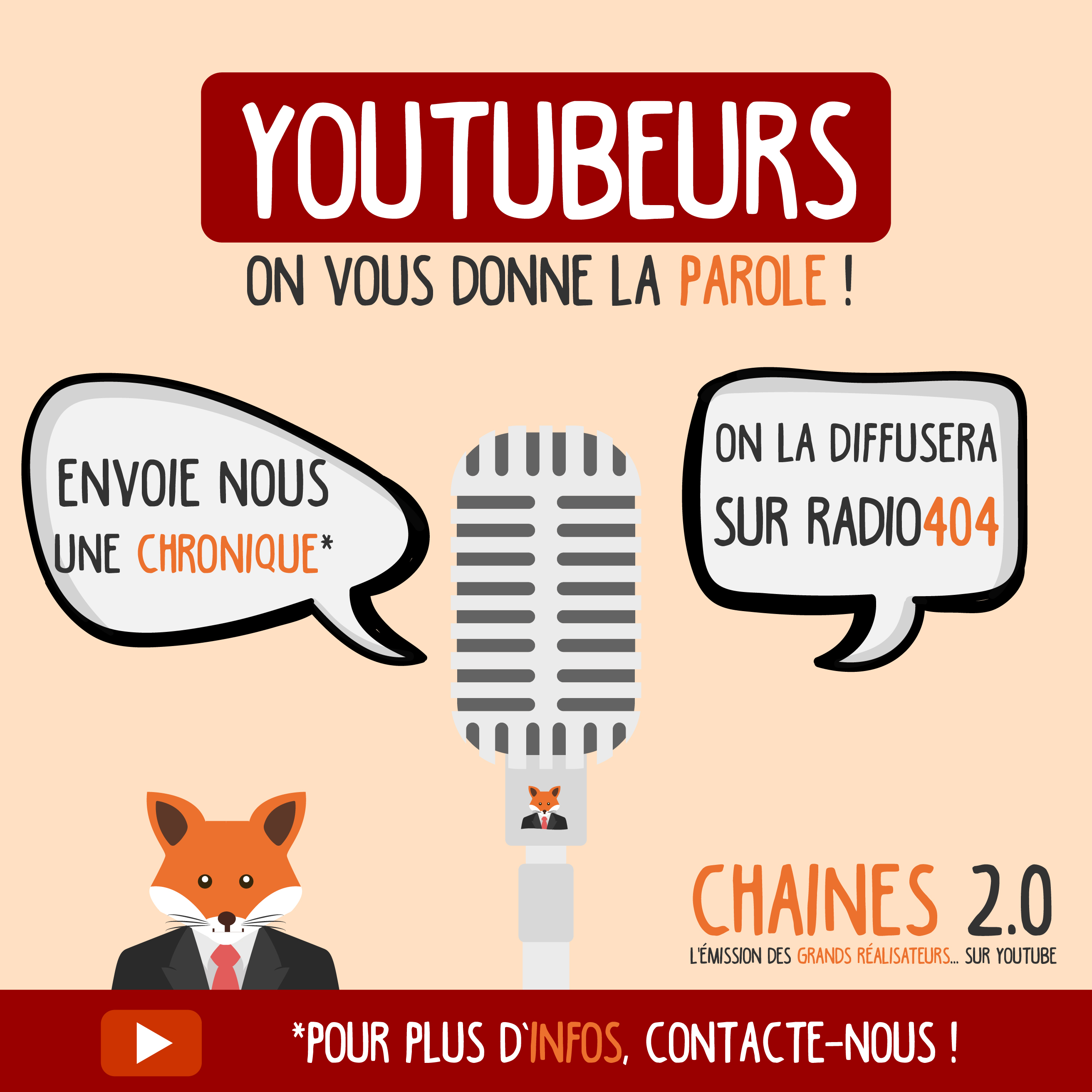 Radio404 - Annonce YouTube et Youtubeurs
